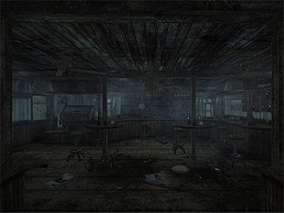 Danilos Bar Dirty- Unity3d ingame screengrab 3d rendering modeling texture realtime unity design interior grunge dirt decay