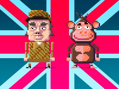 Charles & Bongo game design pixel art cartoon design character pixel