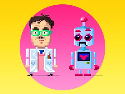 Ryou & Toto game design pixel art cartoon design character pixel