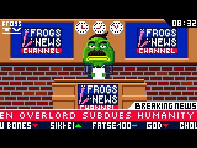Frogs News game design pixel art cartoon design character pixel