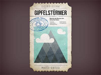 Achievement Ticket ticket achievement game textures graphic design type rugged grunge grungy dirty stamp paper train
