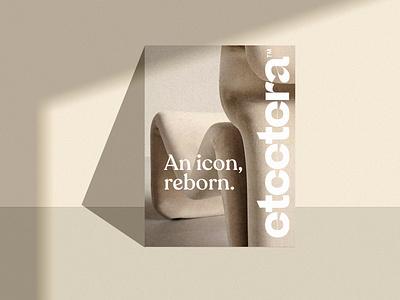 Branding for Etcetera Chair catalogue retro 70s chair branding logo graphic design