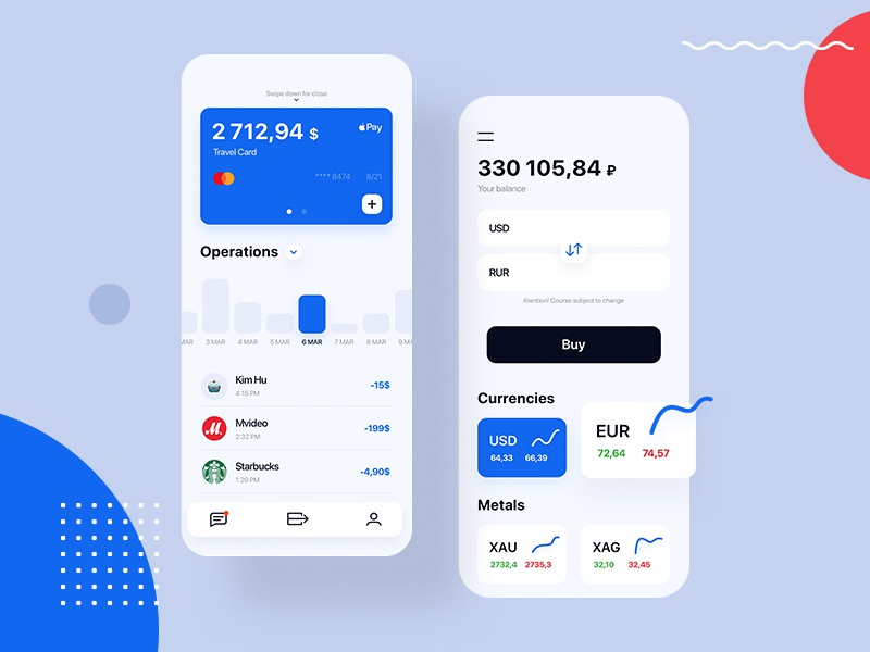 Promsvyazbank mobile app ios application modern ui ux interface uxd uxdesign app bank design graphic typography icon animation flat concept money card