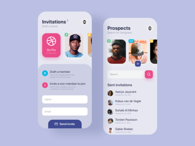 Dribbble Application  | Daily UI