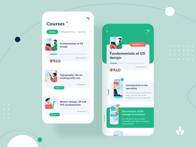 Education Platform | Daily UI design graphic ux ui interface uxd uxdesign app concept illustration application flat modern typography ios onboarding learn tutorial course
