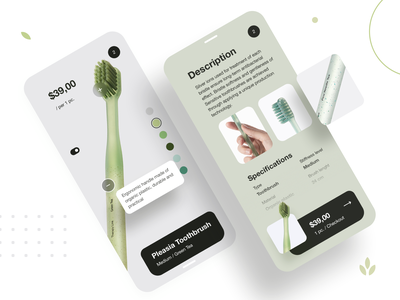 Product Card | Daily UI design graphic ux ui interface uxd uxdesign app concept application flat modern ios onboarding nature tooth green tea natural toothbrush