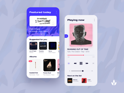 Music Application | Daily UI musican album playlist music play minimal onboarding ios modern flat application concept app uxdesign uxd interface ui ux graphic design