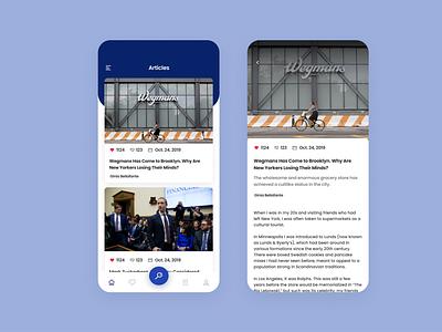 newsapp ux ui illustration design branding application app