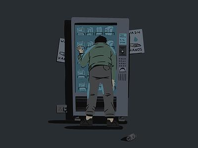 Key Workers 01 ipad procreate doodle sketch hands wash vending machines character design illustration