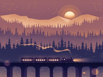 Social Header — Winter Train