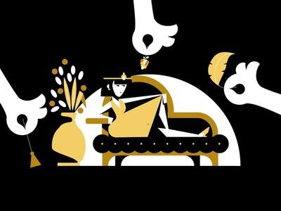 MixedParts03 cleopatra hands mixedpartsbrief design character motion animation illustration
