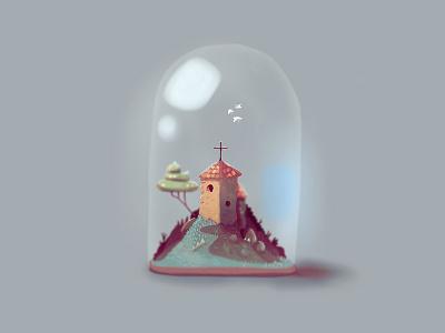 Chapel.jpg 🔮 ill ipad painting colour church bottle doodle sketch illustration