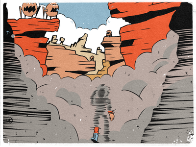 20 — Tread ipad procreate sketch exploration monster smoke space character design inktober