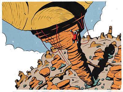 21 — Treasure mountain climb character ipad space sketch procreate inktober inktober2019 design illustration