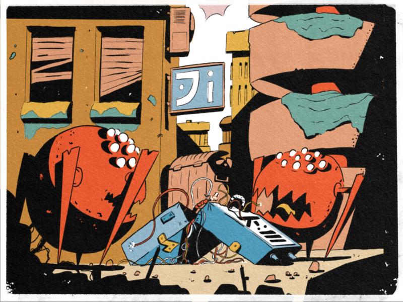 25 — Tasty doodle palette monster city space procreate inktober inktober2019 sketch art illustration