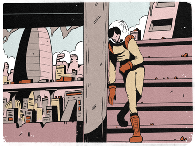 27 — Coat city graphic comic procreate doodle sketch inktober2019 inktober space illustration design