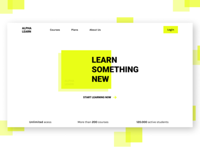 Alpha Learn study learning minimalism webdesign ui design minimal figma