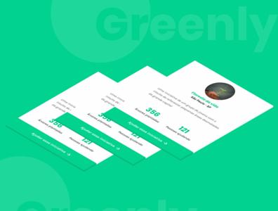Greenly - Cards das iniciativas light colors nature cards minimalism design web ui webdesign figma minimal