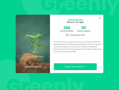 Greenly - Card expandido cards ui minimalism design webdesign figma minimal