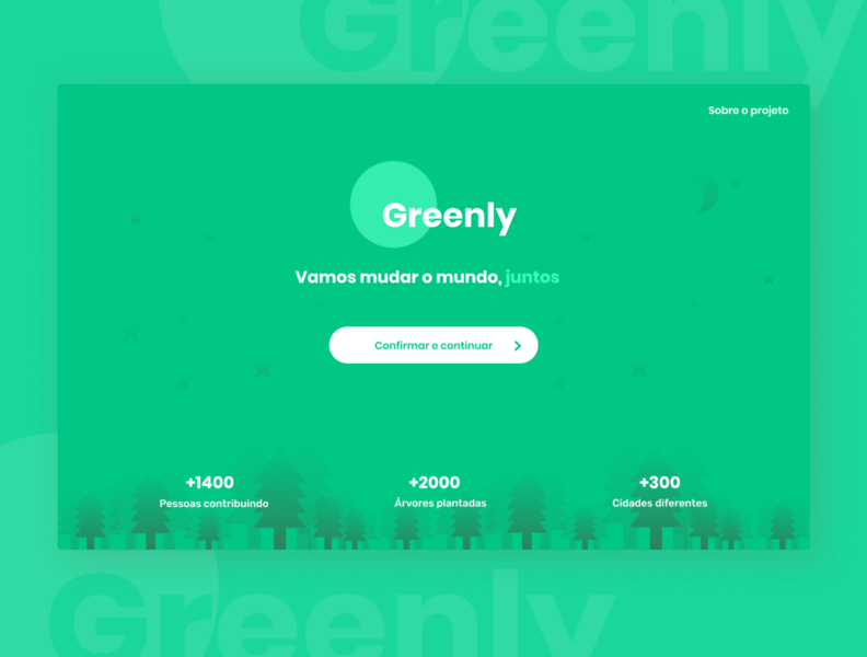 Greenly - Landing page landingpage minimalism nature web webdesign ui minimal figma