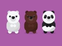 3 TINY Bears (Best Of #Vectober 3)