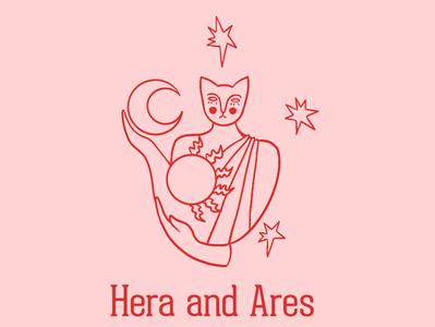 Logo Design for the jewelry brand Hera and Ares art artist design illustration branding concept brand identity brand design illustrator logodesigner logodesign logo branding jewellery