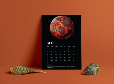 Calendar design 2020