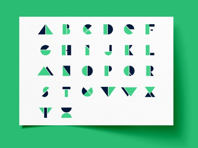 Geometric Alphabet -  Shape Font letterdesign letters font shapes design illustrator graphicdesign geometic alphabet logo alphabet