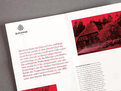 Bleckmar way finding print design logo design branding
