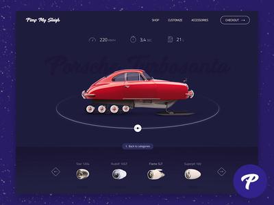 7 Apps for Santa - #5 PIMP MY SLEIGH app constructor newyear retouch icons design car web ux ui
