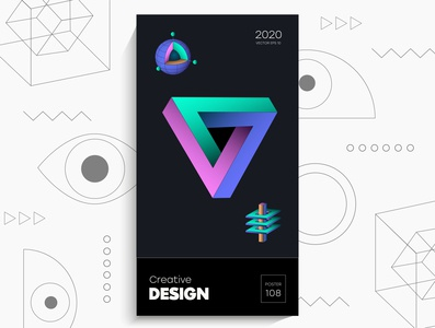 Abstract geometric poster