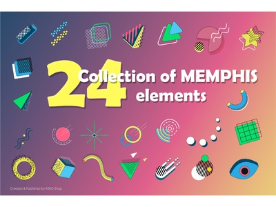 Collection of MEMPHIS elements. retro vintage circle graphics wireframe hud elements hud square triangle grid geometry modern abstract shapes science fiction sci-fi futuristic shapes modern shapes abstract shapes