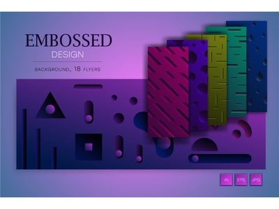 Abstract embossed design. template futuristic geometric illustration abstract rudiments rectangular vintage concave depressed bevel emboss engraved shadow glitch three-dimensional embossed effect 3d embossed embossing