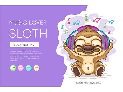 Sloth music lover shower