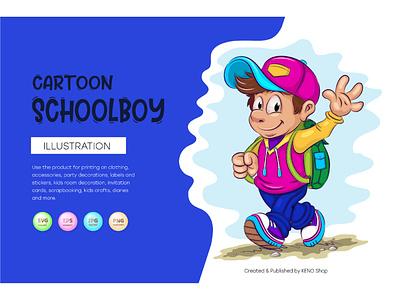Cartoon schoolboy. clipart