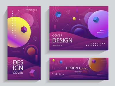 Creative design with gradients shapes