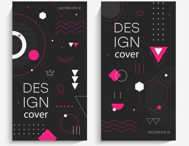 Brochures with memphis elements