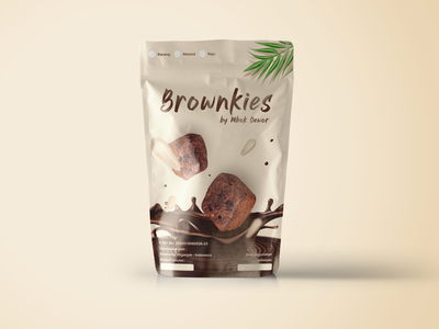Brownies product design minimal 3d mockup design like package design brand standingpouch brownies illustration packaging packagedesign brand design