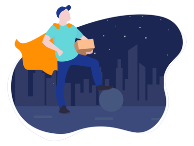 Delivery Heroes dark mode adobe illustrator graphic design graphicdesign 2d character 2d ux uxdesign ui design ui vector app like illustration flatdesign design