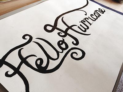 Hello Hurricane Typography type hand lettering typography