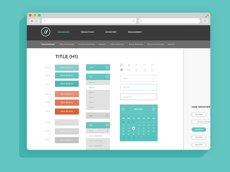 UI Style Guide ui ux interface buttons