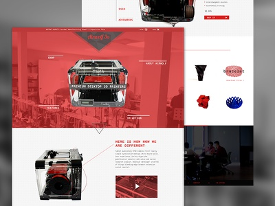 3D Printer Site web design product marketing