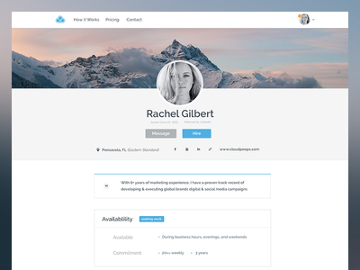 Profile Redesign minimal portfolio profile product design