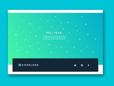 Codelesss Confirm gradient blue confetti form confirmation
