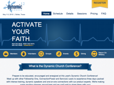 Dynamic Church 2012 Website web design website ui ux design