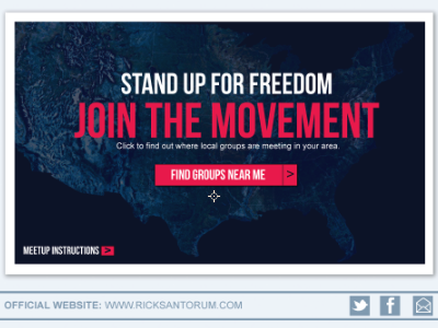Local Groups Page website web design design grassroots politics