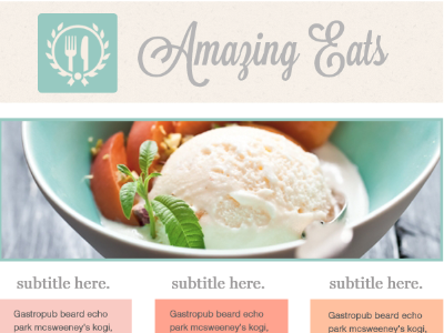HTML Email Template - Delicieux