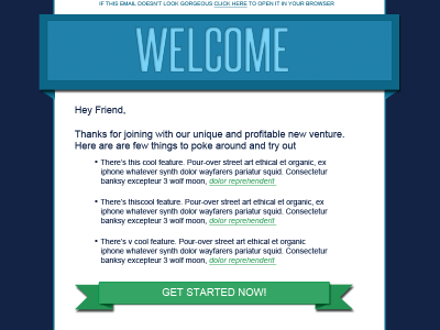 Prizewinning - Email Template ribbon email template web design html