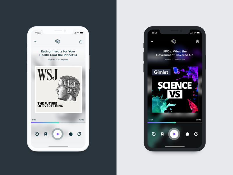 Scout.fm Themed Player theme podcasts music player ui app podcast