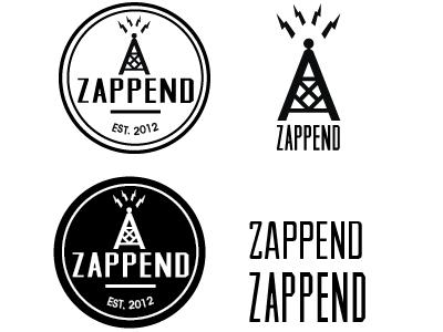 Zappend Logo work logo branding concept type hipster web design marketing